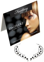 Fantasy Black Self Adhesive Stick-on Rhinestone Eye Jewelry