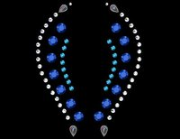 Fantasy Sapphire Self Adhesive Stick-on Rhinestone Eye Jewelry