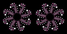 Pair of 'Amour' Self Adhesive Stick-on Rhinestone Pasties/Belly Jewels