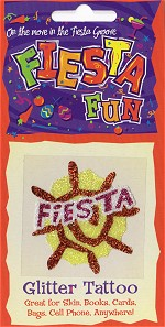 Fiesta with Sun Glitter Tattoo