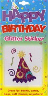 Birthday Party Hat Glitter Tattoo